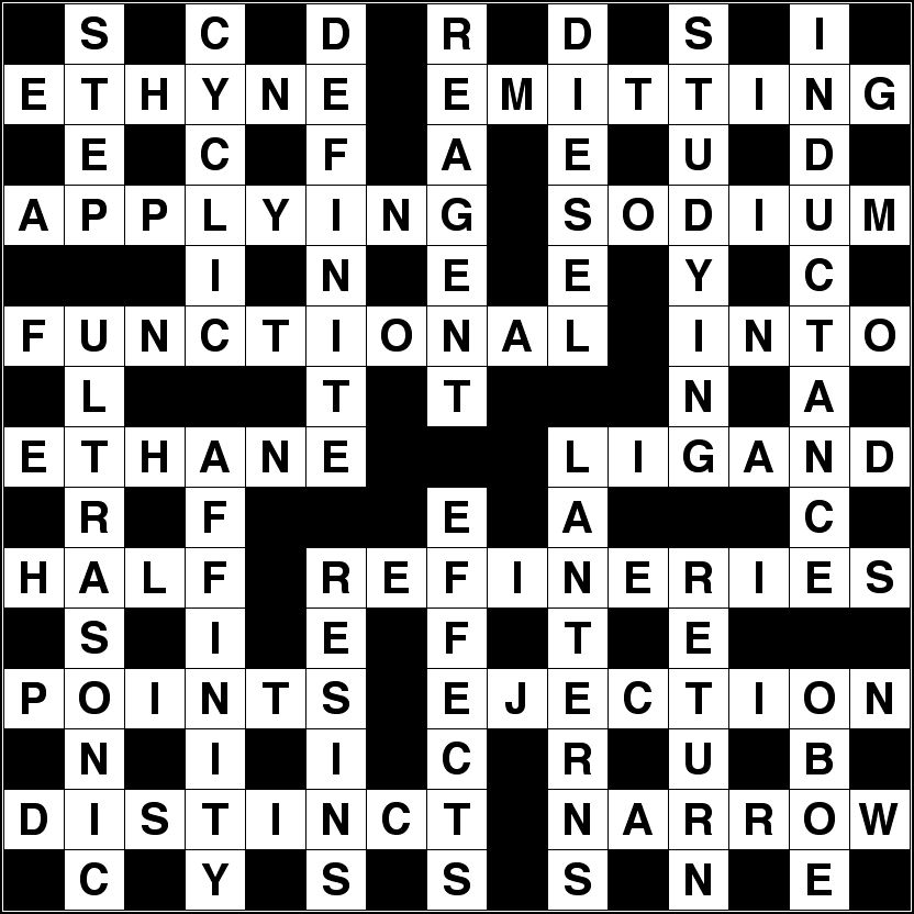 August 2015 crossword solution image
