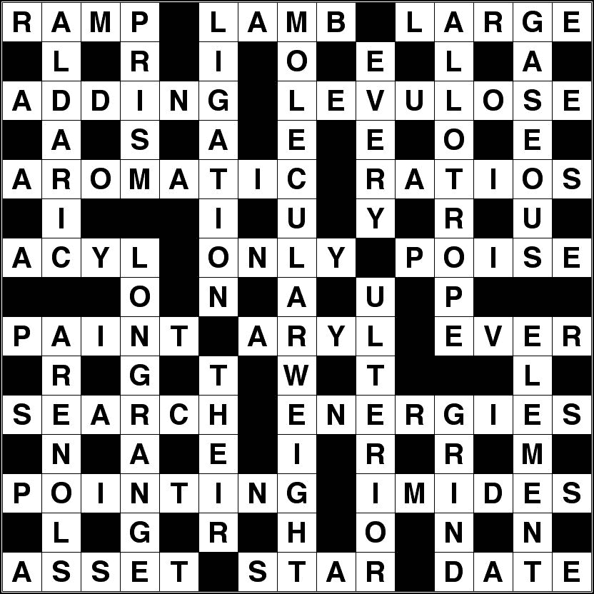 July 2015 crossword solution image