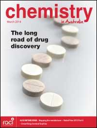 Chemistry in Australia March 2014 issue cover