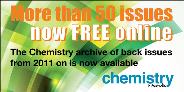 Chemistry in Australia back-issues promo image